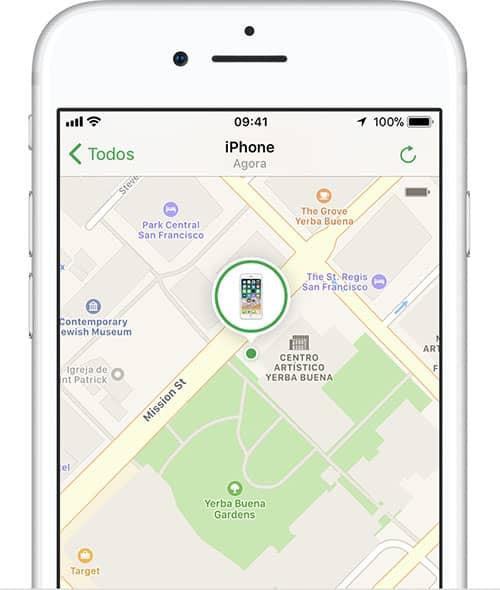 como localizar iphone